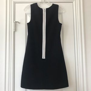 ABS COLLECTIONS Black Dress White Zippered Back